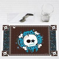 Skullitude - Boy Skull - Party Placemats - Set of 12