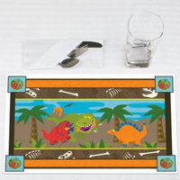 Dinosaur Birthday - Party Placemats - Set of 12
