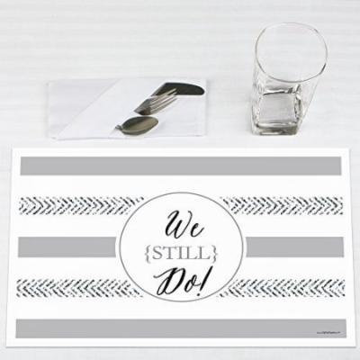 We Still Do - Wedding Anniversary - Party Placemats - Set of 12