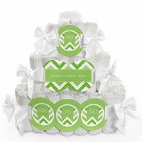 Baby Diaper Cake - Chevron Green - 3 Tier
