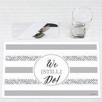 We Still Do - 10th Wedding Anniversary - Party Placemats - Set of 12