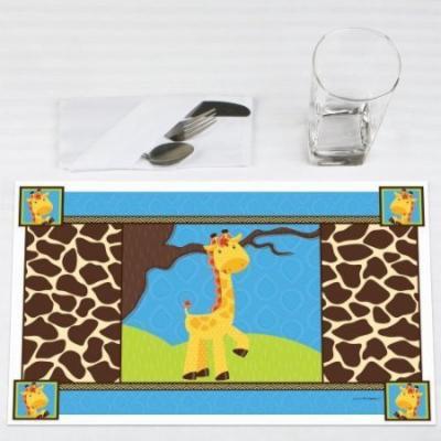 Giraffe Boy - Party Placemats - Set of 12