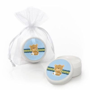 Boy Baby Teddy Bear - Lip Balm Party Favors (set of 12)