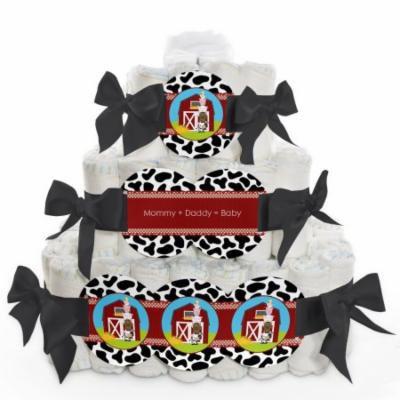 Baby Diaper Cake - Farm Animals - 3 Tier
