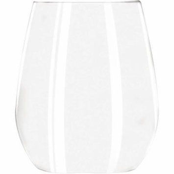 Libbey Stemless Clear White Wine Glasses, 11.75 oz, (Pack of 12)