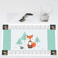 Mr. Foxy Fox - Party Placemats - Set of 12
