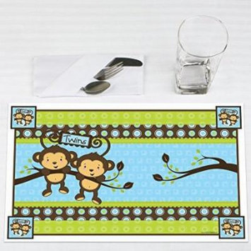 Twin Monkey Boys - Party Placemats - Set of 12