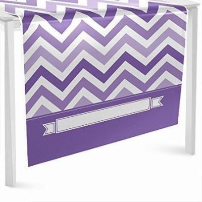 Chevron Purple - Party Table Runner - 24