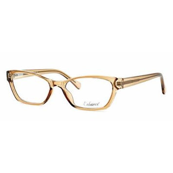 Enhance Optical Designer Eyewear :: 3903 Eyeglasses in Brown ; DEMO LENS