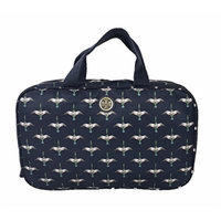Tory Burch Printed Nylon Hanging Travel Cosmetic Case, Tory Navy