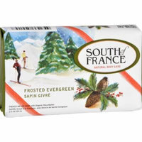 South of France Bar Soap - Limited Edition Holiday - Frosted Evergreen - 3.5 oz - Case of 6