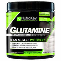 Nutrakey L-Glutamine Unflavored - 300 Grams