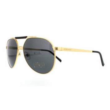 Versace Men's VE2155-100287-59 Gold Aviator Sunglasses
