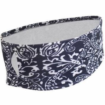 Women's Printed Ponytail Ear Cover Headband - Black & White