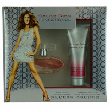 Celine Dion Sensational Set-Edt Spray 1 Oz & Shimmer Body Lotion 2.5 O