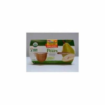 Pears 95 percent organic Diced Cup 4 Oz - Pack of 6 - SPu1019900