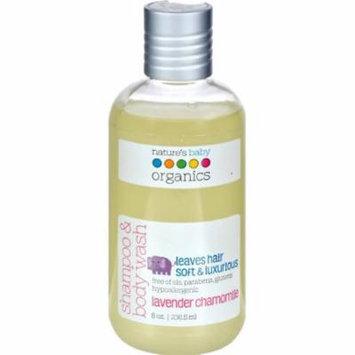 Natures Baby Organics Shampoo & Body Wash Lavender Chamomile, 8 fl oz