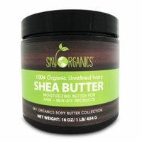 Organic Shea Butter By Sky Organics: Unrefined, Pure, & Raw Ivory 16oz (2 Pack)