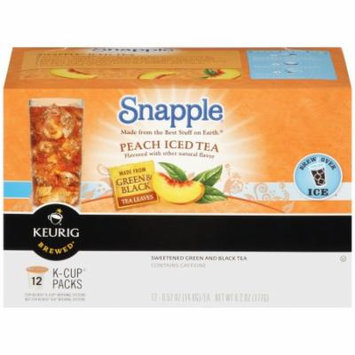 Snapple Peach Iced Tea K Cups, 12 CT (Pack of 6)