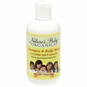 Nature's Baby Organics Shampoo & Body Wash, Vanilla Tangerine, 8 fl oz