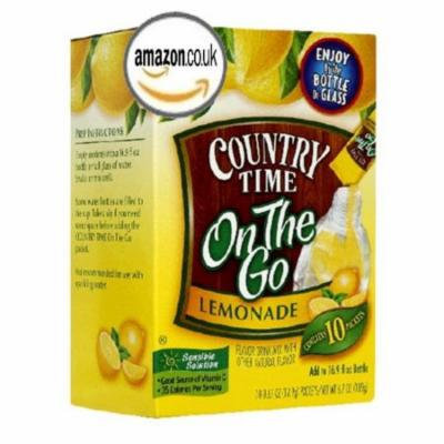 Country Time On The Go Lemonade Flavor Drink Mix, 10 CT (Pack of 6)