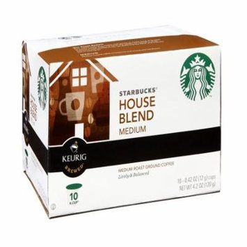 Starbucks Coffee House Blend K-Cup Portion Pack For Keurig Brewers, 10 CT (Pack of 6)