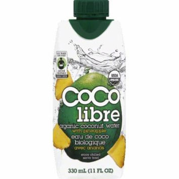 Coco Libre Coconut Water, Organic, Flavored with Pineapple Juice
