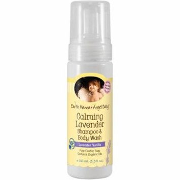 Earth Mama Angel Baby Shampoo and Body Wash, Calming Lavender Vanilla, 5.3 fl oz