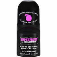 Herban Cowboy Deodorant - Roll On - Superfruit - 2.5 oz