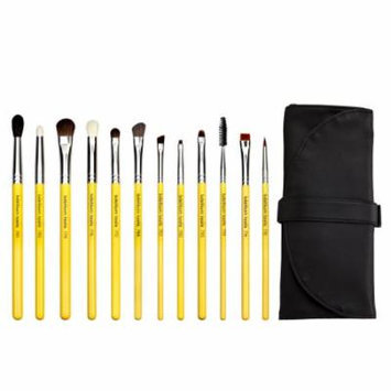 Bdellium Tools Professional Makeup Studio Line Eyes 12pc. Brush Set with Roll-Up Pouch