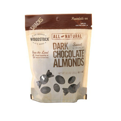 WOODSTOCK All-Natural Dark Chocolate Almonds