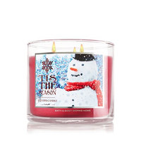 Bath & Body Works 1 X Bath and Body Works Tis the Season 3 Wick 14.5 Oz Candle New for 2014