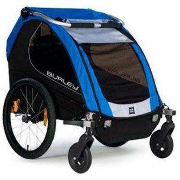 Burley Encore Trailer with 2-Wheel Stroller Kit - Blue