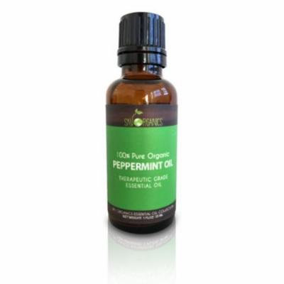 Peppermint Essential Oil By Sky Organics-100% Organic Peppermint Oil 1oz 4 Pack