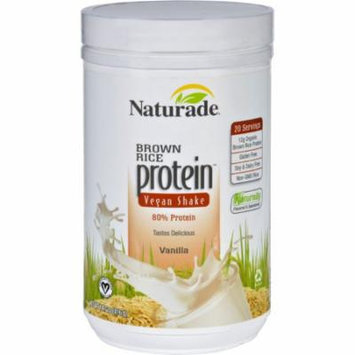 Naturade Protein Shake - Brown Rice - Vegan - Gluten Free - Vanilla - 14.7 oz