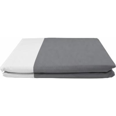 BedVoyage Rayon from Bamboo-Duvet Cover - Queen - Platinum / White Reversible-1 Pack