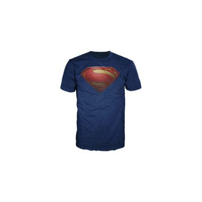 Bio World Merchandising S Shield Man Of Steel Mens Tee - Medium
