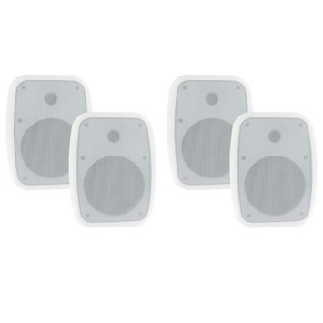 Theater Solutions TS6ODW Indoor Outdoor Weatherproof White 6.5 Speakers 2 Pair Pack 2TS6ODW
