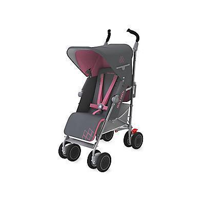 Maclaren Techno XT Full-Sized Umbrella Fold Stroller - Charcoal-Pink
