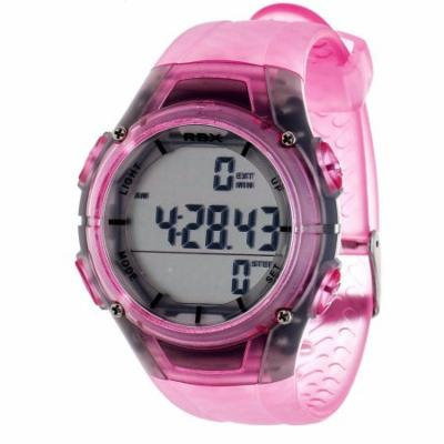 RBX Women's Pedometer Watch, Clear Pink Strap