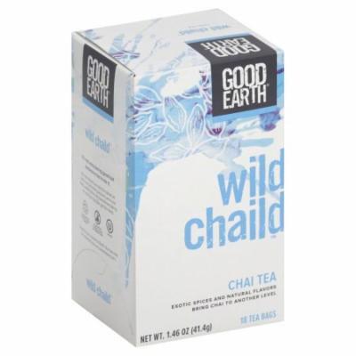 Good Earth Chai Tea, Wild Chaild, Bags, 18 CT (Pack of 6)