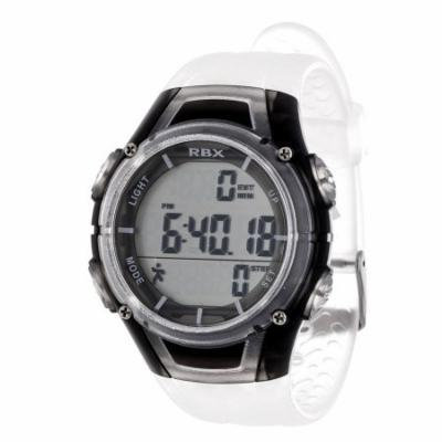 RBX Pedometer Watch, Clear Strap