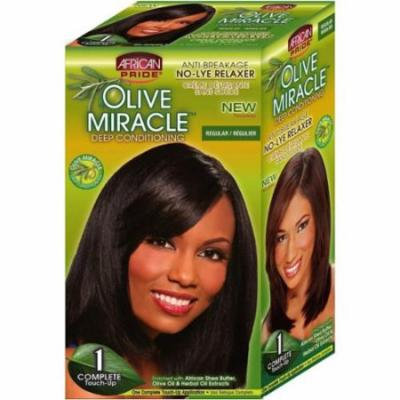 African Pride Olive Miracle Deep Conditioning No-Lye Relaxer - Regular Kit 1 ea