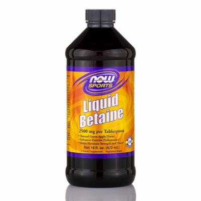 NOW� Sports - Liquid Betaine 2500 mg, Natural Green Apple Flavor - 16 fl. oz (47