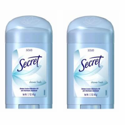 Secret Shower Fresh Solid Antiperspirant & Deodorant - 1.7oz - 2 Pack + FREE SHIPPING!