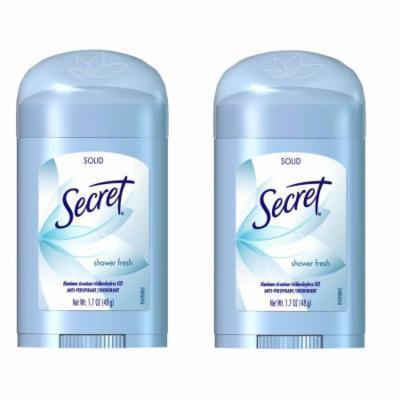 Secret Shower Fresh Solid Antiperspirant & Deodorant - 1.7oz - 2 Pack + FREE SHIPPING!