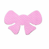 Pink Hair Ornament Bowknot Shape Magic Fringe Hair Sticker for Women