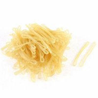 180 Pcs Rubber Flexible Hair Ties Rope Ponytail Holder Loom Refill Bands Yellow