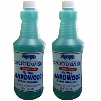 Woodwise No-Wax Hardwood Floor Cleaner Concentrate - 32oz Pack of 2
