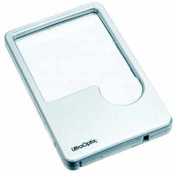UltraOptix Lighted LED Wallet Magnifying Lens - 2x With 6x Insert